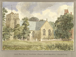 South-West View of Landwade Chapel, Cambridgeshire June 14th 1849